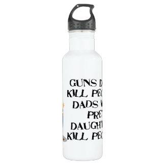 Guns Don't Kill, Dadism Stainless Steel Water Bottle