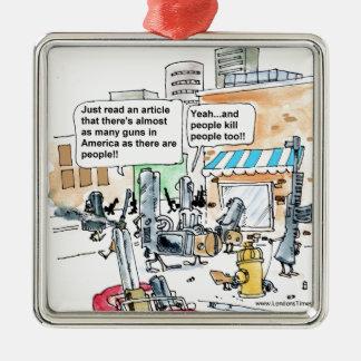 Guns Don't Kill Funny Gifts, Tees & Cards Metal Ornament