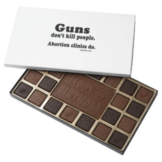 Guns don't kill people. Abortion clinics do 45 Piece Assorted Chocolate Box