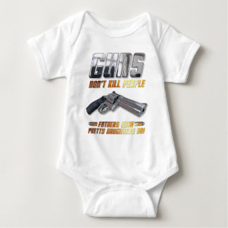 Guns Dont Kill People Baby Bodysuit