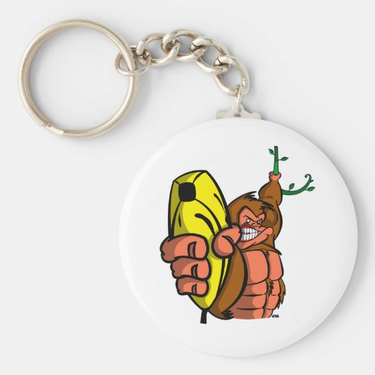 GUNS DON'T KILL PEOPLE, BANANAS DO - LIGHT KEYCHAIN