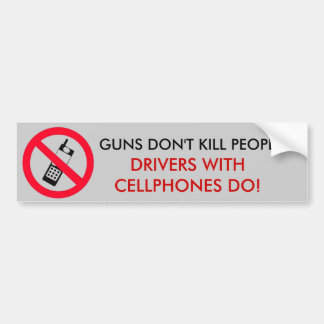 Guns Don't Kill people Bumper Sticker