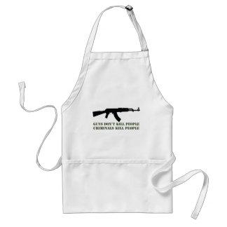 GUNS DON'T KILL PEOPLE, CRIMINALS KILL PEOPLE ADULT APRON