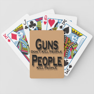 Guns Don't Kill People Kill People black Bicycle Playing Cards