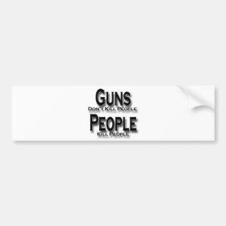 Guns Don't Kill People Kill People black Bumper Stickers