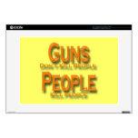 """Guns Don't Kill People Kill People orange Skins For 15"""" Laptops"""