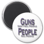Guns Don't Kill People Kill People purple 2 Inch Round Magnet