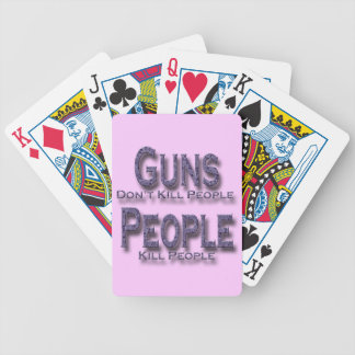 Guns Don't Kill People Kill People purple Bicycle Playing Cards