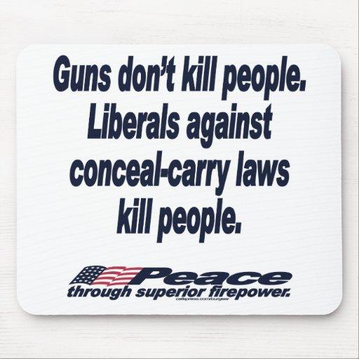 Guns Don't Kill People Mousepad