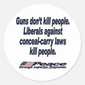 Guns Don't Kill People Sticker