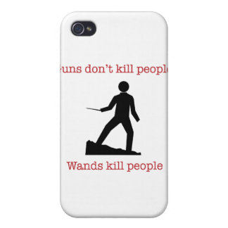 Guns don't kill people. Wands kill people. iPhone 4 Cover
