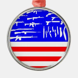 Guns Flag Christmas Ornament
