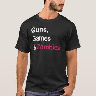 Guns, Games, Zombies Dark T-Shirt