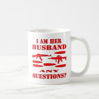 Guns I Am Her Husband Any Questions Classic White Coffee Mug