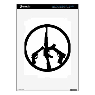 Guns In A Peace Sign Skin For iPad 3