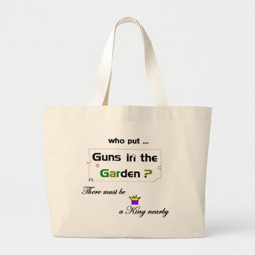 Guns in the Garden Tote Tote Bags