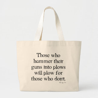 Guns Into Plows Tote Bag