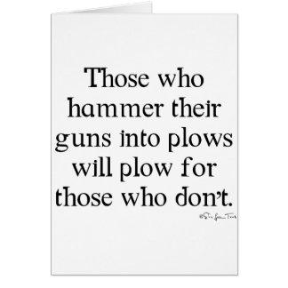 Guns Into Plows Card