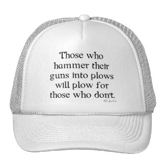 Guns Into Plows Trucker Hat
