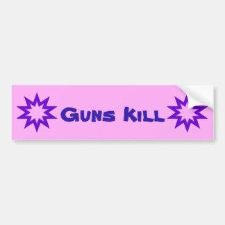 Guns Kill Purple and Pink Bumper Sticker