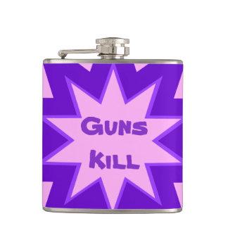 Guns Kill Purple and Pink Flask