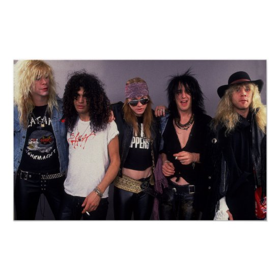 Guns N' Roses | Chicago December 1987 Poster