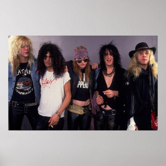 Guns N' Roses   Chicago December 1987 Poster