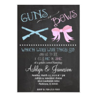 Guns or Bows Gender Reveal Party Invitation 5