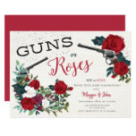 Guns or Roses gender reveal invitation