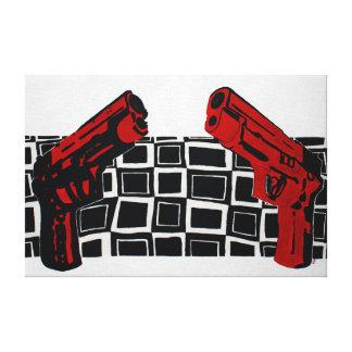 Guns Painting Canvas Print