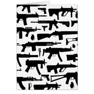 Guns pattern card