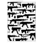 Guns pattern greeting cards