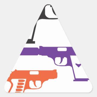 Guns.pdf Pegatina Triangular