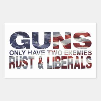 GUNS RECTANGULAR STICKER