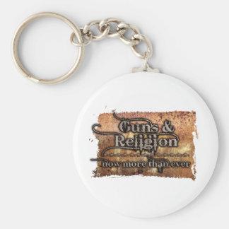 guns&religion llavero redondo tipo pin