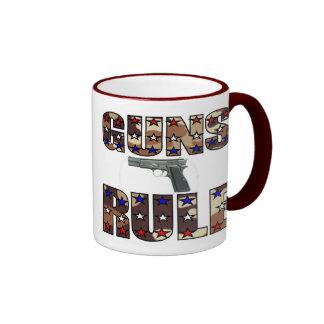 Guns Rule Pro Gun mug. Ringer Mug