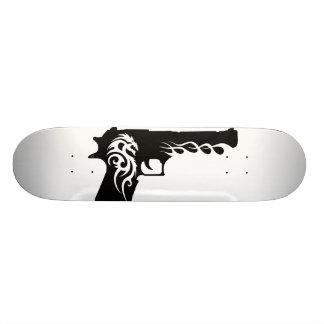 guns template 2 skateboard deck