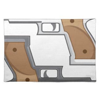 Guns Vector Cloth Placemat