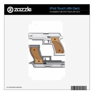 Guns Vector iPod Touch 4G Decal