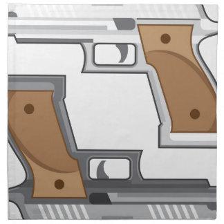Guns Vector Napkin