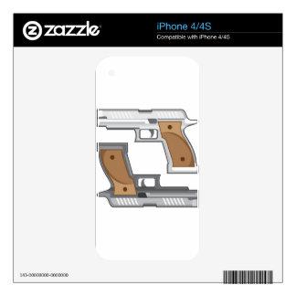 Guns Vector Skin For iPhone 4
