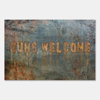 Guns Welcome Sign