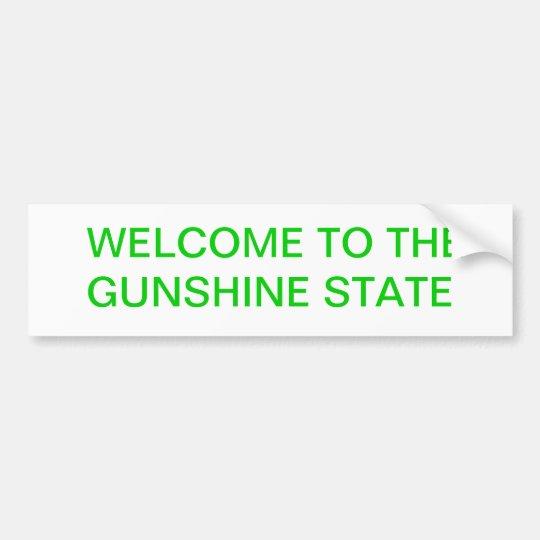GUNSHINE STATE BUMPER STICKER