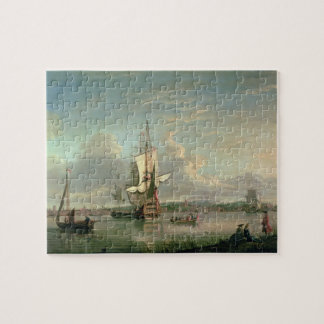 Gunship on the Thames off Woolwich Jigsaw Puzzle