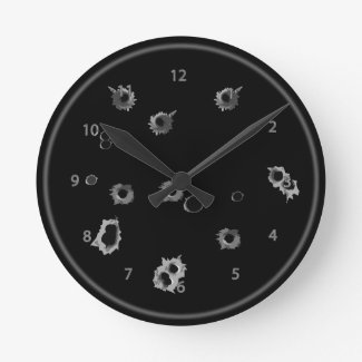 Gunshot Holes Wall Clock