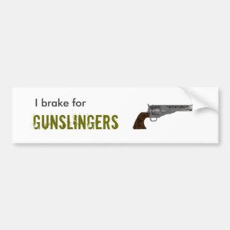 Gunslinger Bumpersticker Pegatina Para Auto