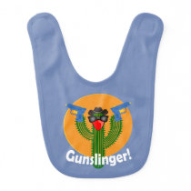 Gunslinger Cactus Design - Baby Bib