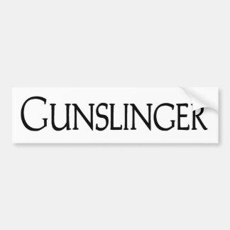 Gunslinger Car Bumper Sticker