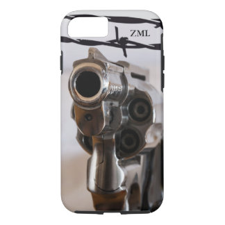 Gunslinger Country Western Revolver Personalized iPhone 8/7 Case
