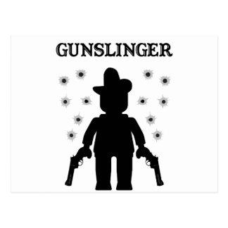 Gunslinger Cowboy Minifig Postcard